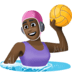 🤽🏿‍♀️ woman playing water polo: dark skin tone Emoji on Facebook Platform