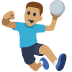 🤾🏽 person playing handball: medium skin tone Emoji on Facebook Platform