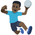 🤾🏿 person playing handball: dark skin tone Emoji on Facebook Platform