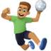 🤾🏽‍♂️ man playing handball: medium skin tone Emoji on Facebook Platform