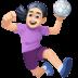 🤾🏻♀️ woman playing handball: light skin tone Emoji on Facebook Platform