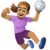 🤾🏽‍♀️ woman playing handball: medium skin tone Emoji on Facebook Platform