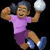 🤾🏾♀️ woman playing handball: medium-dark skin tone Emoji on Facebook Platform