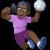 🤾🏿♀️ woman playing handball: dark skin tone Emoji on Facebook Platform