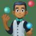 🤹🏾 Medium Dark Skin Tone Person Juggling Emoji on Facebook Platform