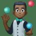🤹🏿 person juggling: dark skin tone Emoji on Facebook Platform