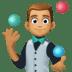 🤹🏽♂️ man juggling: medium skin tone Emoji on Facebook Platform