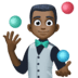 🤹🏿‍♂️ man juggling: dark skin tone Emoji on Facebook Platform