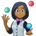 🤹🏾‍♀️ woman juggling: medium-dark skin tone Emoji on Facebook Platform