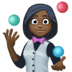 🤹🏿‍♀️ woman juggling: dark skin tone Emoji on Facebook Platform