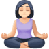 🧘🏻 person in lotus position: light skin tone Emoji on Facebook Platform