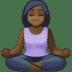 🧘🏿 person in lotus position: dark skin tone Emoji on Facebook Platform