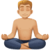 🧘🏼‍♂️ Medium Light Skin Tone Man In Lotus Position Emoji on Facebook Platform