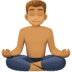 🧘🏽‍♂️ Medium Skin Tone Man In Lotus Position Emoji on Facebook Platform