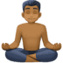 🧘🏾‍♂️ man in lotus position: medium-dark skin tone Emoji on Facebook Platform