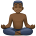 🧘🏿‍♂️ man in lotus position: dark skin tone Emoji on Facebook Platform
