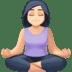 🧘🏻♀️ woman in lotus position: light skin tone Emoji on Facebook Platform