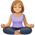 🧘🏼‍♀️ woman in lotus position: medium-light skin tone Emoji on Facebook Platform