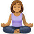 🧘🏽‍♀️ woman in lotus position: medium skin tone Emoji on Facebook Platform