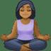 🧘🏾♀️ woman in lotus position: medium-dark skin tone Emoji on Facebook Platform