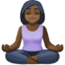 🧘🏿‍♀️ woman in lotus position: dark skin tone Emoji on Facebook Platform