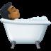 🛀🏾 person taking bath: medium-dark skin tone Emoji on Facebook Platform
