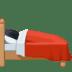 🛌🏻 person in bed: light skin tone Emoji on Facebook Platform
