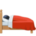 🛌🏿 Dark Skin Tone Person In Bed Emoji on Facebook Platform