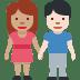 🧑🏽🤝🧑🏻 people holding hands: medium skin tone, light skin tone Emoji on Facebook Platform