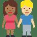🧑🏾🤝🧑🏼 people holding hands: medium-dark skin tone, medium-light skin tone Emoji on Facebook Platform
