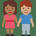 🧑🏾🤝🧑🏽 people holding hands: medium-dark skin tone, medium skin tone Emoji on Facebook Platform