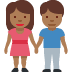 🧑🏾‍🤝‍🧑🏾 people holding hands: medium-dark skin tone Emoji on Facebook Platform