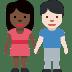 🧑🏿🤝🧑🏻 people holding hands: dark skin tone, light skin tone Emoji on Facebook Platform