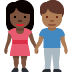 🧑🏿‍🤝‍🧑🏾 people holding hands: dark skin tone, medium-dark skin tone Emoji on Facebook Platform