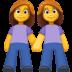 👭 women holding hands Emoji on Facebook Platform