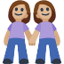 👭🏼 women holding hands: medium-light skin tone Emoji on Facebook Platform