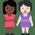 👩🏿🤝👩🏻 women holding hands: dark skin tone, light skin tone Emoji on Facebook Platform