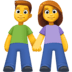 👫 Woman And Man Holding Hands Emoji on Facebook Platform