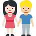 👩🏻‍🤝‍👨🏼 woman and man holding hands: light skin tone, medium-light skin tone Emoji on Facebook Platform