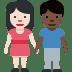 👩🏻🤝👨🏿 Light Skin Tone Woman And Dark Skin Tone Man Holding Hands Emoji on Facebook Platform