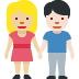 👩🏼‍🤝‍👨🏻 woman and man holding hands: medium-light skin tone, light skin tone Emoji on Facebook Platform