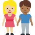 👩🏼‍🤝‍👨🏾 woman and man holding hands: medium-light skin tone, medium-dark skin tone Emoji on Facebook Platform