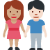 👩🏽‍🤝‍👨🏻 woman and man holding hands: medium skin tone, light skin tone Emoji on Facebook Platform