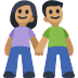 👫🏽 woman and man holding hands: medium skin tone Emoji on Facebook Platform