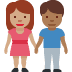 👩🏽‍🤝‍👨🏾 woman and man holding hands: medium skin tone, medium-dark skin tone Emoji on Facebook Platform