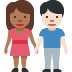 👩🏾🤝👨🏻 Medium Dark Skin Tone Woman And Light Skin Tone Man Holding Hands Emoji on Facebook Platform