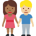 👩🏾‍🤝‍👨🏼 woman and man holding hands: medium-dark skin tone, medium-light skin tone Emoji on Facebook Platform