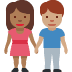 👩🏾‍🤝‍👨🏽 woman and man holding hands: medium-dark skin tone, medium skin tone Emoji on Facebook Platform