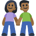 👫🏾 woman and man holding hands: medium-dark skin tone Emoji on Facebook Platform
