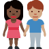 👩🏿‍🤝‍👨🏽 woman and man holding hands: dark skin tone, medium skin tone Emoji on Facebook Platform